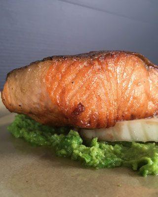 Crispy skin salmon fillet